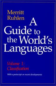 Cover of: A guide to the world's languages | Merritt Ruhlen