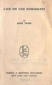 Cover of: Life on the Mississippi by Mark Twain