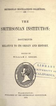 Cover of: The Smithsonian Institution by Smithsonian Institution