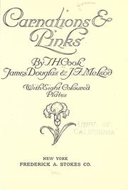 Cover of: Carnations and pinks | T. H. Cook