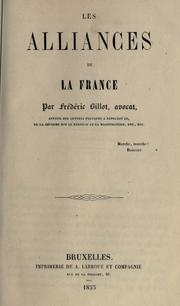 Cover of: Les alliances de la Franc | Fr©Øed©Øeric Billot