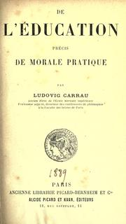 Cover of: De l'education by Carrau, Ludovic
