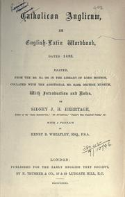 Cover of: [Publications]. Original series | Early English Text Society