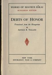 Cover of: Debts of honor by M©Øor J©Øokai
