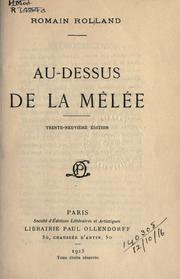 Cover of: Au-dessus de la m©Đel©Øe | Romain Rolland