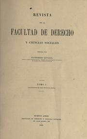 Cover of: Revista by Universidad de Buenos Aires. Facultad de Derecho y Ciencias Sociales