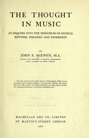 Cover of: The thought in music | John B. McEwen