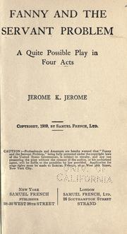 Cover of: Fanny and the servant problem | Jerome Klapka Jerome