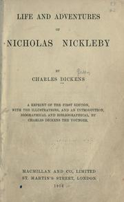 Cover of: Nicholas Nickleby by Charles Dickens