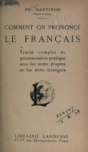 Cover of: Comment on prononce le français | Philippe Martinon