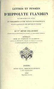 Cover of: Lettres et pensées d'Hippolyte Flandrin by Jean Hippolyte Flandrin