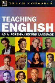 Cover of: Teach Yourself Teaching English as a Foreign/Second Language by David Riddell