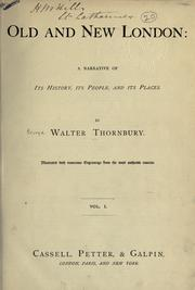 Cover of: Old and new London by Thornbury, Walter