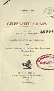 Cover of: Celebrated Crimes by Alexandre Dumas