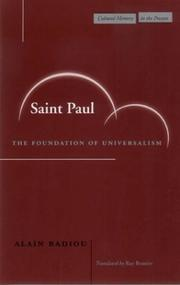 Cover of: Saint Paul by Alain Badiou