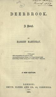 Cover of: Deerbrook by Martineau, Harriet