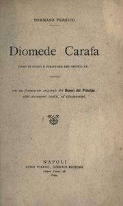 Cover of: Diomede Carafa by Tommaso Persico