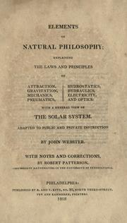 Cover of: Elements of natural philosophy | John Webster