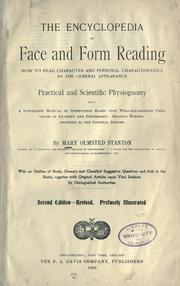 Cover of: The encyclopedia of face and form reading | Mary Olmstead Stanton