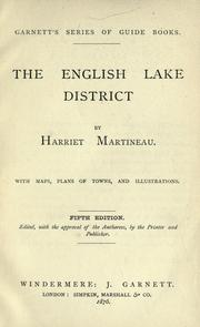 Cover of: The English lake district | Martineau, Harriet