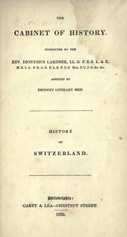 Cover of: History of Switzerland by Dionysius Lardner