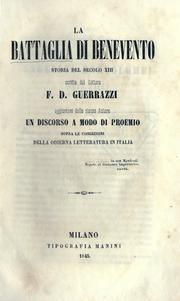 Cover of: La battaglia di Benevento | Guerrazzi, Francesco Domenico