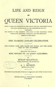 Cover of: Life and reign of Queen Victoria | Morris, Charles