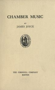 Cover of: Chamber music | James Joyce