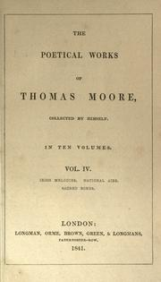 Cover of: Poems by Thomas Moore