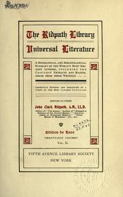 Cover of: The Ridpath library of universal literature | John Clark Ridpath