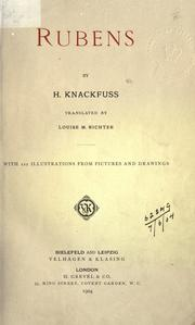 Cover of: Rubens | H. Knackfuss