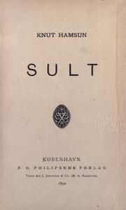 Cover of: Sult | Knut Hamsun