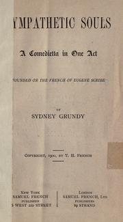 Cover of: Sympathetic souls | Sydney Grundy
