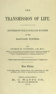 Cover of: The transmission of life | George H. Napheys