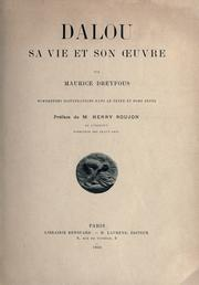 Cover of: Dalou, sa vie et son oeuvre | Maurice Dreyfous