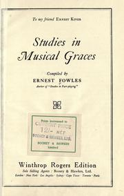 Cover of: Studies in Musical Graces by Ernest Fowles