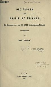 Cover of: Die Fabeln der Marie de France | Marie de France