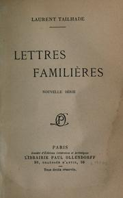Cover of: Lettres familières | Laurent Tailhade