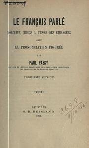 Cover of: Le français parlé | Paul Passy
