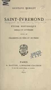 Cover of: Saint-Évremond | Gustave Merlet