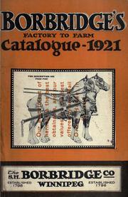 Borbridge's factory to farm catalogue 1921. --