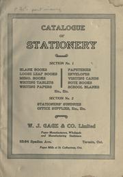 Catalogue of stationery