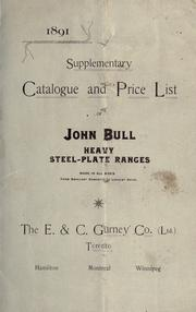 Supplementary catalogue and price list of John Bull heavy steel-plate ranges