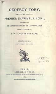 Cover of: Geofroy Tory | Auguste Joseph Bernard