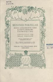 Cover of: Meissner Porzellan | Willy Doenges