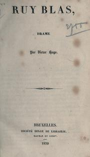 Cover of: Ruy Blas, drame by Victor Hugo