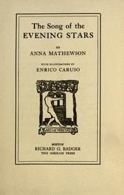 Cover of: The song of the evening stars | Anna Mathewson
