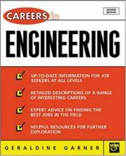 Cover of: Careers in Engineering, 2nd Ed | Geraldine Garner, Geraldine O Garner