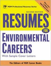 Cover of: Resumes for Environmental Careers, 2nd Ed by Editors of VGM Career Books