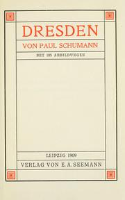 Cover of: Dresden | Paul Schumann